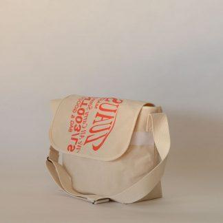 PRINTED CANVAS MASSENGER BAG