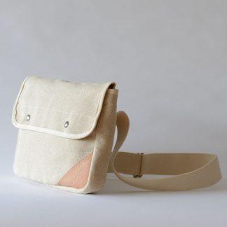 LINEN CANVAS MINI SHOULDER BAG