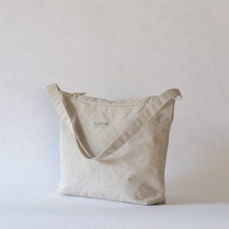LINEN CANVAS SHOULDER BAG